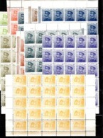 Serbie YT N° 116/125 En Blocs De 25 Timbres Neufs ** MNH. Gomme D'origine. Rare! TB. A Saisir! - Serbia