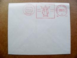 Cover Portugal Atm Machine Red Special Cancel 13.5.67 Fatima Orbis Orans Orbis Unus - Covers & Documents