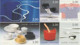 Finlandia 1998  Yvert Tellier  1417/22 Diseños  ** - Finland