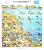 Palau Mnh ** Sheet - Face Value 5,60 USD Fish Boats Fishing 1986 - Pesci