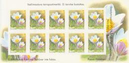 Finlandia 2000  Yvert Tellier  1511.C Básica/Flor Adh.carnet ** - Finland