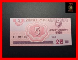 KOREA NORTH 5 Chon 1988  P. 32  UNC - Korea, North