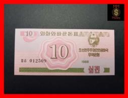 KOREA NORTH 10 Chon 1988  P. 33  UNC - Korea, North