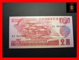 KOREA NORTH 5 Won  1988  P. 36  UNC - Korea, North