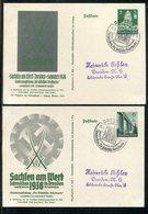 """Deutsches Reich / 1938 / Sonderpostkarten Mi. P 269/P 270 """"Sachsen Am Werk"""" SSt. Dresden (1801) - Ganzsachen"""