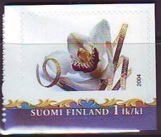 Finlandia 2004  Yvert Tellier  1669 Flor Orquidea ** - Finland