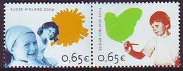 Finlandia 2004  Yvert Tellier  1689/90 Derechos De Los Niños (2s) ** - Finland