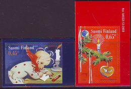 Finlandia 2004  Yvert Tellier  1691/92 Navidad'04  (2s) ** - Unused Stamps