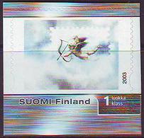 Finlandia 2003  Yvert Tellier  1629 Sello De Amor Adhes. ** - Unused Stamps