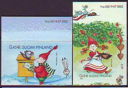 Finlandia 2003  Yvert Tellier  1642/43 Navidad Adhes. ** - Finlande