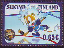 Finlandia 2003  Yvert Tellier  1611 Campeonato Del Mundo De Hockey Hielo ** - Finland