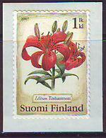 Finlandia 2007  Yvert Tellier  1808 Flor Lis/autoadh. ** - Unused Stamps