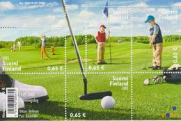 Finlandia 2005  Yvert Tellier  1721/24 Golf (4s) / Hb 36 ** - Unused Stamps