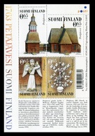 Finlandia 2005  Yvert Tellier  1726/29 Edificio Religioso.Iglesia Petajavesi (4 - Unused Stamps