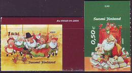 Finlandia 2005  Yvert Tellier  1737/38 Navidad'05 (2s) ** - Unused Stamps