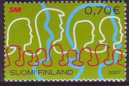 Finlandia 2007  Yvert Tellier  1804 SAK 100a. ** - Finlande