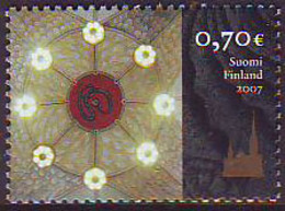 Finlandia 2007  Yvert Tellier  1815 Catedral Tampere ** - Finland