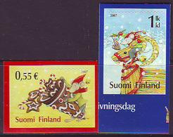 Finlandia 2007  Yvert Tellier  1834/35 Navidad'07/ 1ª Clase ** - Unused Stamps