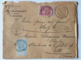 """Lettre  """" ASSURÉ """" 1500 Fr-   DOISCHE  27/05/1899  - LILLE Gare Nord - Autres"""
