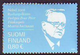 Finlandia 2008  Yvert Tellier  1907 Martti Ahtisaari/Personaje ** - Unused Stamps
