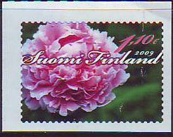 Finlandia 2009  Yvert Tellier  1918 Flor/Peonia/adh. ** - Unused Stamps