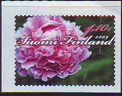 Finlandia 2009  Yvert Tellier  1918 Flor/Peonia/adh. ** - Finlande