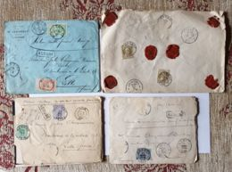 """4 Lettres  """" ASSURÉ """" 1320 Fr-   HANNUT - Valenciennes - LILLE Nord - TIRLEMONTN - Autres"""