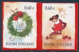 Finlandia 2009  Yvert Tellier  1962/63 Navidad'09 (2s)  ** - Unused Stamps