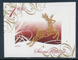 "Finlandia 2009  Yvert Tellier  1964 Navidad/Flor S/valor"" 1 LK/KL"" ** - Unused Stamps"