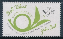 Finlandia 2010  Yvert Tellier  2001 Correo Verde (1class+0,05) ** - Unused Stamps