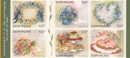 Finlandia 2001  Yvert Tellier  1512/17 Flores Navideñas  ** - Finland