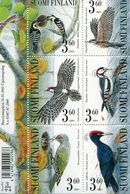 Finlandia 2001  Yvert Tellier  1536/41 Hb 27 Pajaros  ** - Unused Stamps