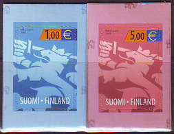 Finlandia 2002  Yvert Tellier  1557/58 Leon Heraldico  ** - Ongebruikt