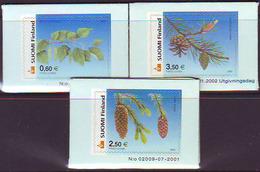 Finlandia 2002  Yvert Tellier  1560/62 Flores Nacionales  ** - Finlandia