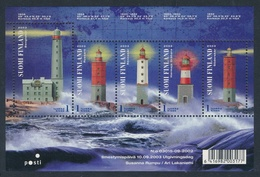 Finlandia 2003  Yvert Tellier  1637/41 Faros ** - Finland