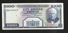 ISLANDA - NATIONAL BANK - 1000 KRONUR (1961) - Islanda