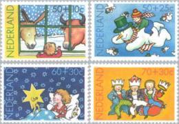 1983 Kind, Donkey, Snowman, Three Kings (Bible Story)  NVPH 1295-1298 Postfris/MNH/** - 1980-... (Beatrix)