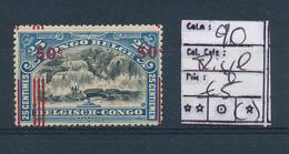 BELGIAN  CONGO COB 90 MISPLACED PARAFIN GUM - 1894-1923 Mols: Neufs