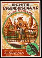 Etiket Oude Genever, Echte Eygenbilsenaar, Likeur, Eigen-Bilsen. Raaf, Bird, Jenever, Vogel, Etikett, Likör,Liqueur Labe - Etiketten