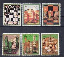 Fujeira - 1972 - Tematica Giochi - SCACCHI - 6 Valori - Usati - (FDC18595) - Fujeira