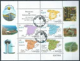 SPANIEN ESPAGNE SPAIN ESPAÑA 2001 INFRASTRUCTURE PROGRAM SHEET ED HB3855 YV BF-3410-14 MI B103-3690-94 - 1931-Heute: 2. Rep. - ... Juan Carlos I