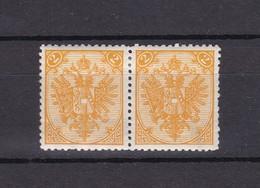 Bosnien-Herzegowina - Österreichische Besetzung - 1895/99 - Michel Nr. 2 II Paar Mit Wz. Teil - 40 Euro - Bosnia And Herzegovina