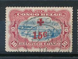 BELGIAN CONGO 1918 ISSUE RED CROSS USED - Belgisch-Kongo