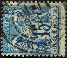 -Sage N°90 Type Ll O (.CAD) PARIS R AMELIE 31 DEC 1898. ( Bur 27 Et Non 12 ). - 1876-1898 Sage (Type II)