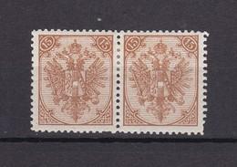 Bosnien-Herzegowina - Österreichische Besetzung - 1895/99 - Michel Nr. 6 II Paar - 35 Euro - Bosnia And Herzegovina