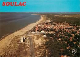 33 - Soulac Sur Mer - Vue Générale Aérienne Sur La Grande Plage Et La Ville. Au Fond, L'Estuaire De La Gironde Et Royan - Soulac-sur-Mer