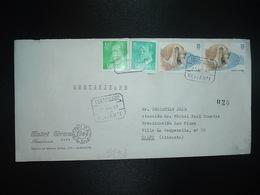 LR TP CHIEN 16 P X2 + CARLOS 6 P + 1 P OBL.22 AGO 83 CERTIFICADO ALICANTE + HOTEL GRANN - 1931-Oggi: 2. Rep. - ... Juan Carlos I