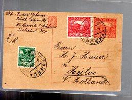 Entier 1920  Hradcany 20 H Avec Complement Tarif 50 Pour La Hollande - Cartes Postales