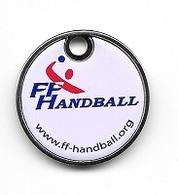 Jeton De Caddie  Fond  Blanc  Sports  F.F  HANDBALL, Fédération  Française  De  Handball - Jetons De Caddies