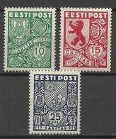 Estonia 1939 CARITAS Michel 142 - 144 * - Estonia
